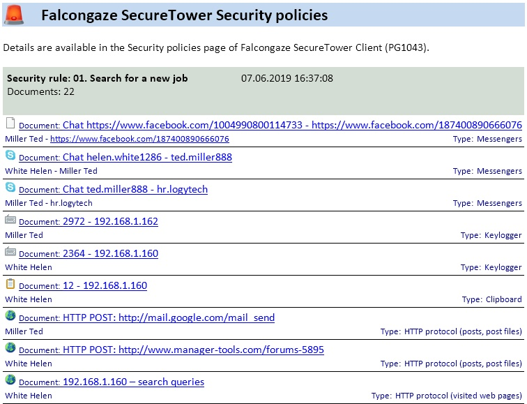DLP Security Policies Management